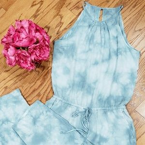 Anthropologie Cloth & Stone Green Jumpsuit NWOT